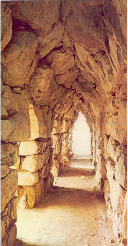 Arched passage within the width of city wall (Tiryns).png