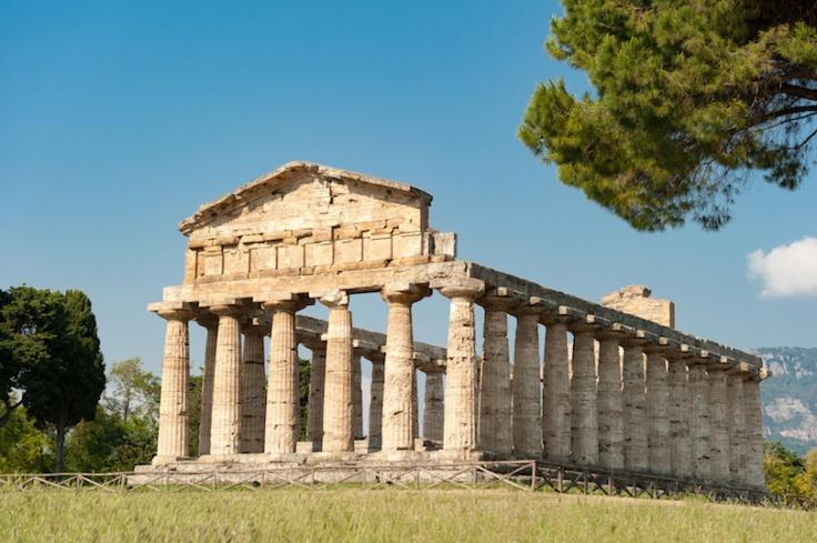 Tempelanlage in Paestum der Tempel der Athene