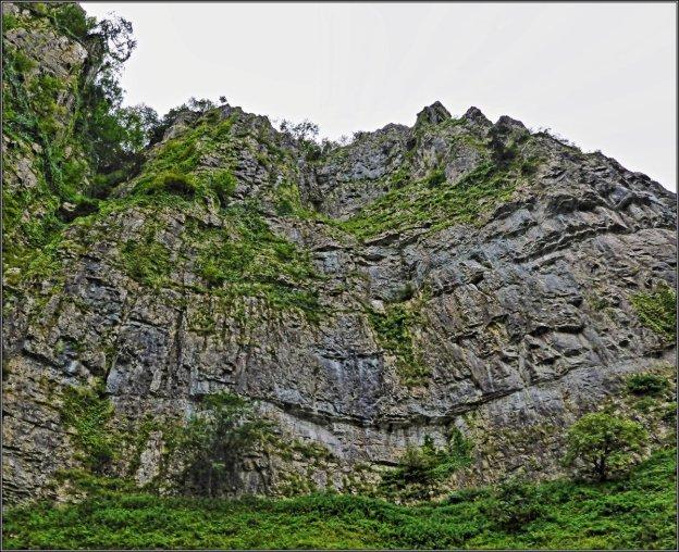 Cliff Road, Cheddar Gorge, Cheddar, Somerset, England UK