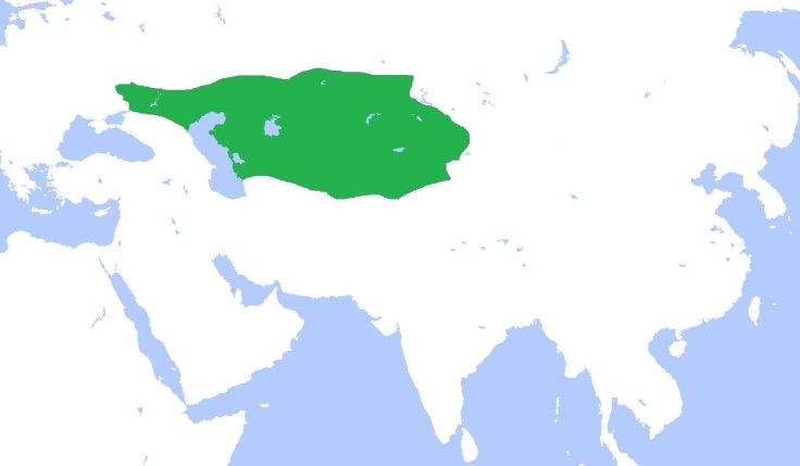 Greatest extent of the Western Turkic Khaganate