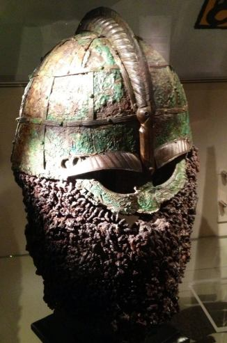 Valsgärde helmet from Vendel Age (pre - Viking) burial site. 7th century AD, Sweden.jpg