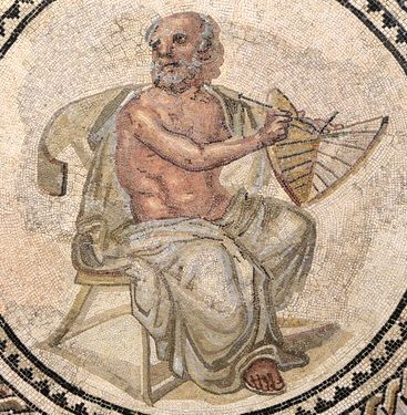 Anaximander_Mosaic_(cropped,_with_sundial)