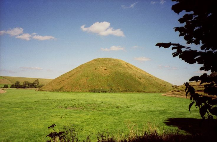 The Neolithic site of Silbury Hill in Wiltshire, southern England
