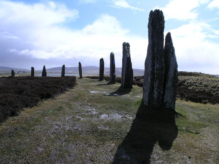The Ring of Brodgar, a Neolithic stone circle on Orkney, northern Scotland