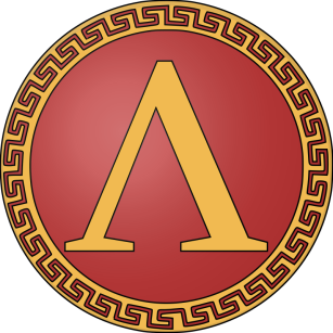 The letter lambda was used by the Spartan army as a symbol of Lacedaemon of Sparta